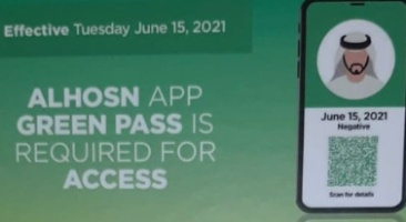 al-hosn-app-green-pass-for-entry-to-public-places-ePathram