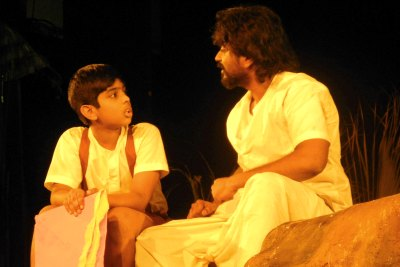 appu-azad-in-bayen-drama-of-natya-gruham-ePathram