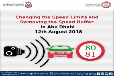 changing-speed-limit-in city-by-abudhabi-police-ePathram
