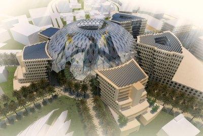 dubai-expo-2020-al-wasl-plaza-dome-ePathram