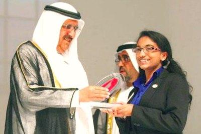 dubai-sheikh-hamdan-award-2013-winner-fathma-rahma-ePathram