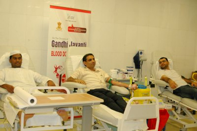 indian-media-blood-donation-in-gandhi-jayanti-ePathram