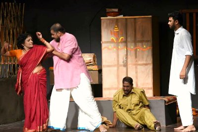 jeena-rajeev-kpac-saju-in-drama-fest-2015-ePathram
