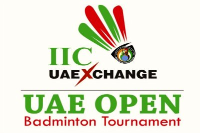 logo-iic-uae-exchange-badminton-tournament-ePathram.jpg