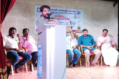 malayalee-samajam-acting-workshop-inaugurated-by-shyju-anthikad-ePathram