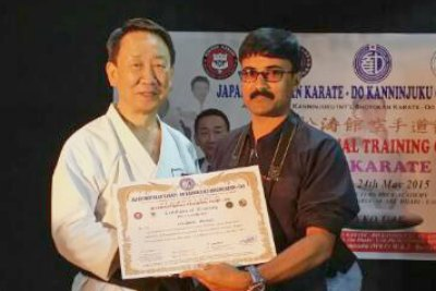 nazeer-pangod-in-winner-karate-camp-ePathram