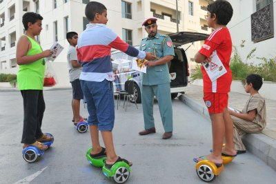 police-warning-to-self-balancing-two-wheel-riders-ePathram