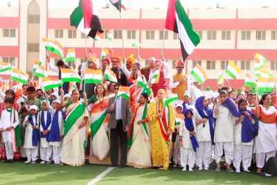 republic-day-celebration-indian-school-abudhabi-ePathram