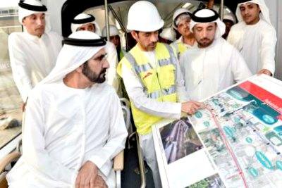 ruler-sheikh-muhammed-bin-rashid-visit-dubai-tram-ePathram