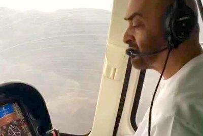 sheikh-muhammed-bin-zayed-visit-flooded-area-ePathram