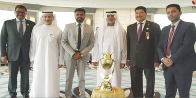 sheikh-nahyan-bin-mubarak-unvieling-unimoni-trophy-ePathram