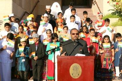 tp-seetharam-on-66th-republic-day-celebration-ePathram