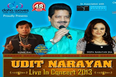 udit-narayan-live-in-concert-2013-at-doha-ePathram