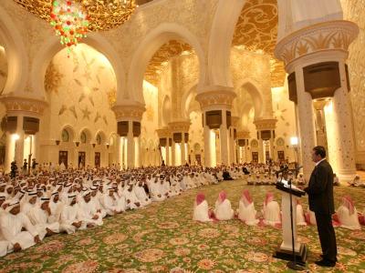 yousuf-ali-in-sheikh-zayed-masjid-ePathram
