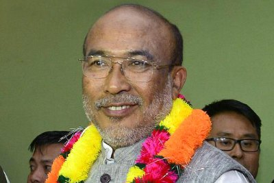n-biren-singh-first-bjp-cm-of-manipur-ePathram