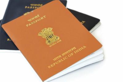orange-and-blue-indian-passport-ePathram