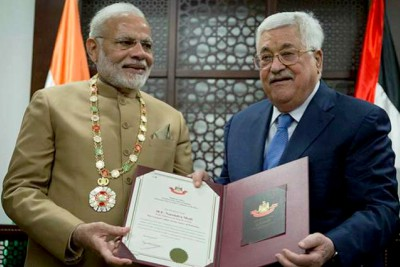 narendra-modi-conferred-grand-collar-of-the-state-of-palestine-ePathram