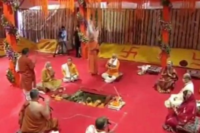 narendra-modi-lays-foundation-ayodhya-rama-temple-ePathram