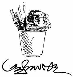cartoonist-yesudasan-self-cartoon-ePathram