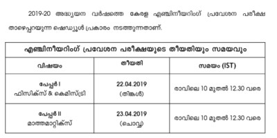 entrance-exam-kerala-engineering-ePathram