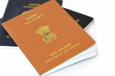 orange-and-blue-indian-passport-ePathram